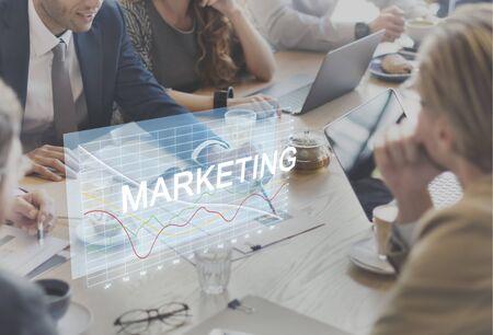 finance concept: Business Finance Marketing Recession Concept