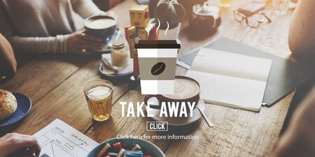 coffee to go: Take Away To Go Coffee Caffeine Concept Stock Photo