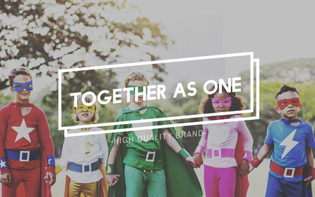 come in: Together as One Unity Teamwork Community Support Concept