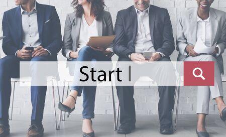 Start Launch Ready Begin Success Motivate Build Concept Stock Photo