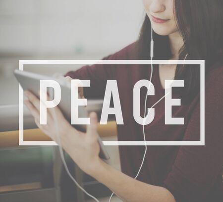 peace and quiet: Peace Calm Freedom Quiet Solitude Independance Concept