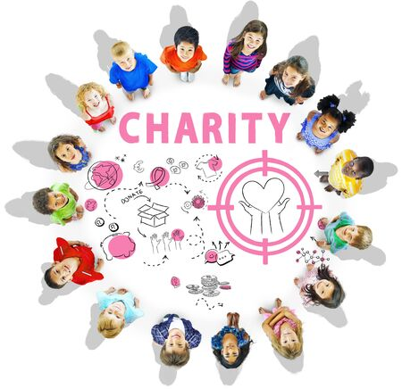 Charity Aid Donation Awareness Concept Stock Photo