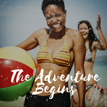 begins: The Adventure Begins Seek and Find Travel Experience Concept