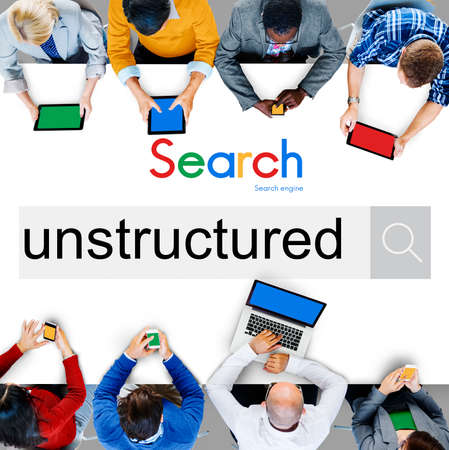 unstructured: Unstructured Complexity Messy Organization Management Concept