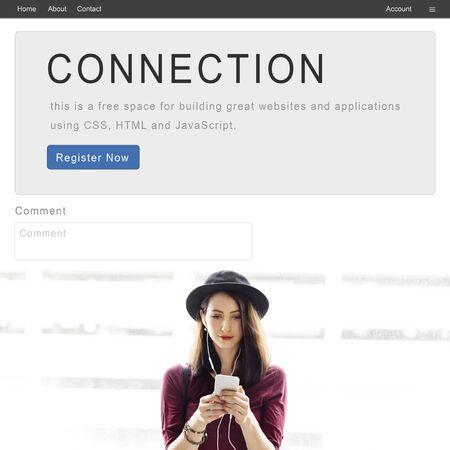 correspondence: Concepto de conexión en red relación de correspondencia