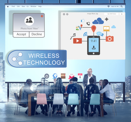 streaming: Online Streaming Technology Transfer Wireless Technology Concept