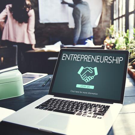 Entrepreneurship Corporate Enterprise Dealer Concept