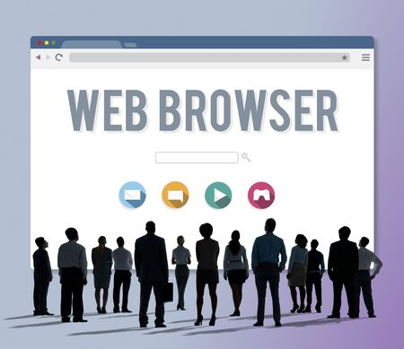 web browser: Generic Web Browser Online Page Concept Stock Photo