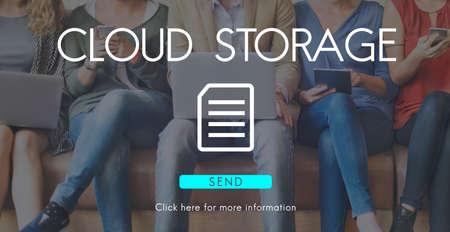 data management: Big Data Storage Memory Cloud Database Digital Concept Stock Photo