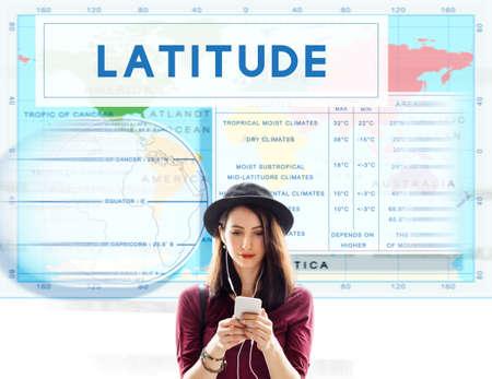 Longtitude Latitude World Cartography Concept Stock Photo