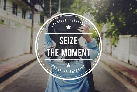 seize: Seize the Moment Collect Moments Memories Enjoyment Concept Stock Photo