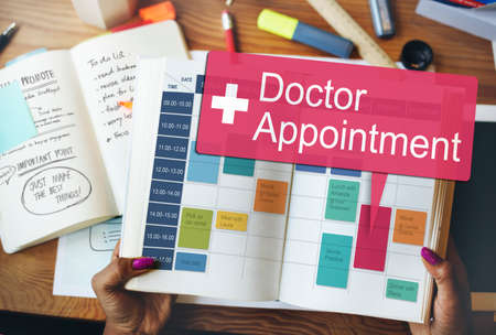 organize: Doctor Appointment Diagnosis Treatment Medical Concept
