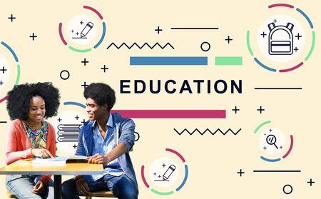 estudiantes adultos: Education Learning Students Development People Graphic Concept
