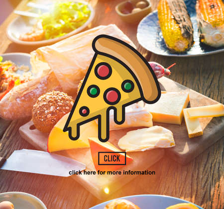 junkfood: PIzza Slice Junkfood Obesity Calories Concept Stock Photo