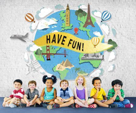 have on: Have Fun Happy Enjoyment Pleasure Joyful Concept