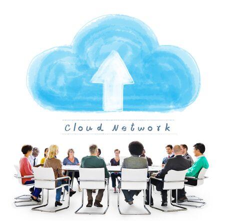 Cloud Network Connecting Technology Internet Online Concept