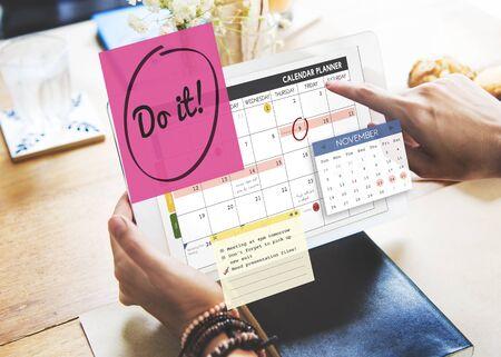 sticky hands: Do It Encouragment Motivation Progress Concept