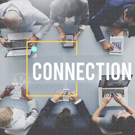 Meeting with connection concept