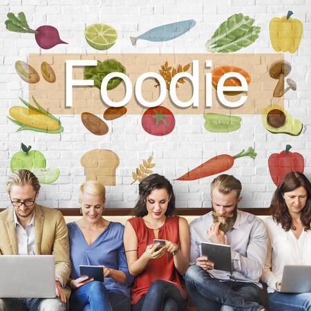 kulinarne: Smakoszem kuchni Kulinarne Kultura Fresh Udekorować Concept Zdjęcie Seryjne