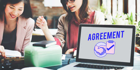 business agreement: Business Agreement Deal Handshake Graphic Concept
