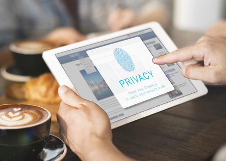 Fingerprint Password Biometrics Technology Concept Stock Photo