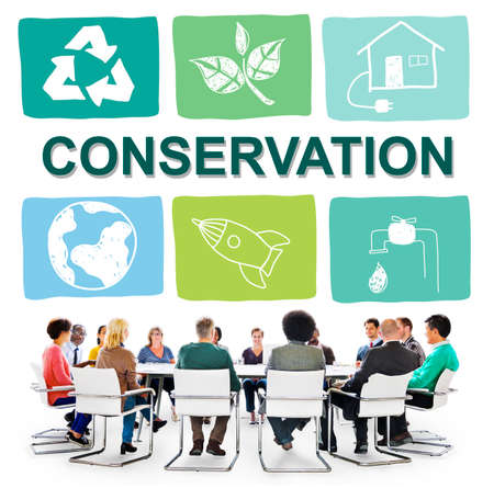 environmental conversation: Environmental Conservation Life Preservation Protection Growth Concept