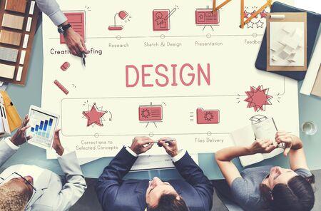 visualize: Design Development Visualize Creativity Concept
