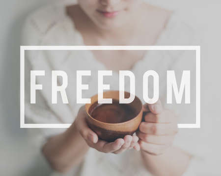 free vote: Freedom Emancipated Human Rights Lberty Concept