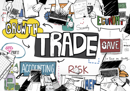 merchandise: Trade Commerce Business Economy Merchandise Concept Stock Photo