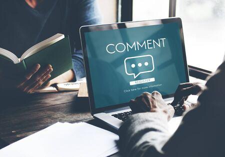 Comment Online Conversation Message Concept Stock Photo