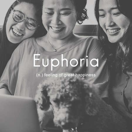 euphoria: Euphoria Feeling Great Pleasure Happiness Concept
