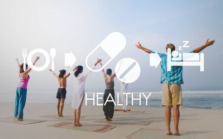 yoga to cure health: Healthy Medical Wellbeing Proper Care Concept