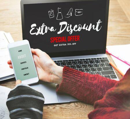 sales promotion: Sales Promotion Discount Shopaholics Shopping Concept