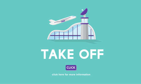 take off: Take Off Business Trip Flights Travel Concept