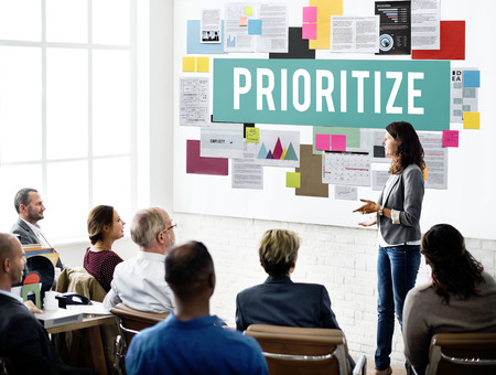 the place is important: Prioritize Efficiency Expedite Importance Issues Concept Stock Photo