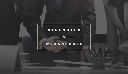 weaknesses: Strengths and Weaknesses SWOT Opportunities Threats Concept