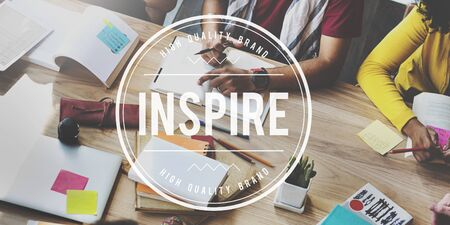 hopeful: Inspire Creative Aspiration Expectations Hopeful Concept Stock Photo