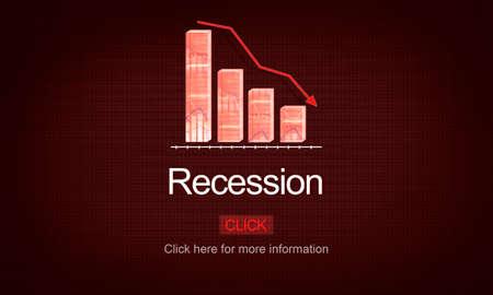 recession: Recession Crisis Inflation Bankrupt Savings Trade Concept Stock Photo