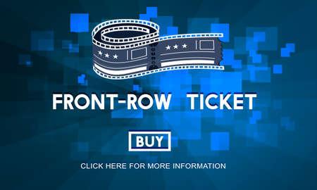 feature films: Movie Cinema Ticket Graphic Concept