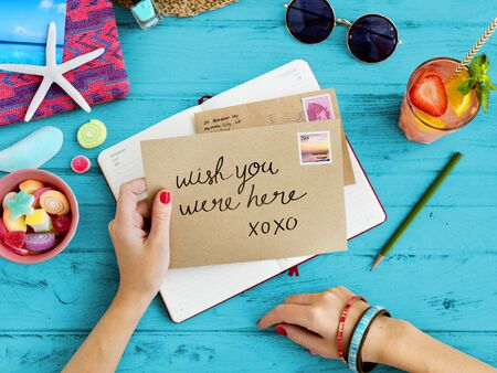 correspondencia: Letter Communication Connection Correspondence Summer Concept