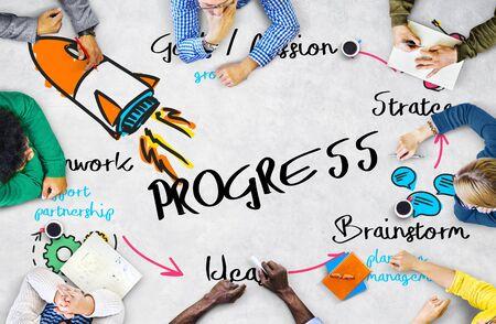 Nueva Logro del asunto Concepto Progreso Organización