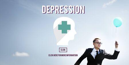 desorden: Trastorno de la depresión clínica de la depresión Concept Foto de archivo