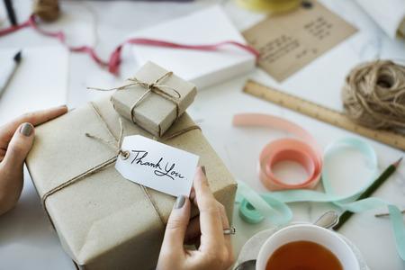 Woman Card Gift Present Handmade Concept