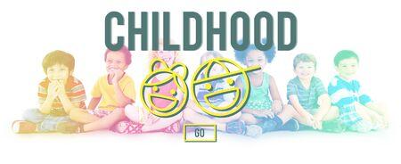 Children Childgood Kids Offispring Website Concept Stock Photo