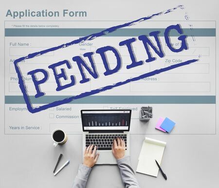 reply: Pending Application Form Document Reply Concept Stock Photo