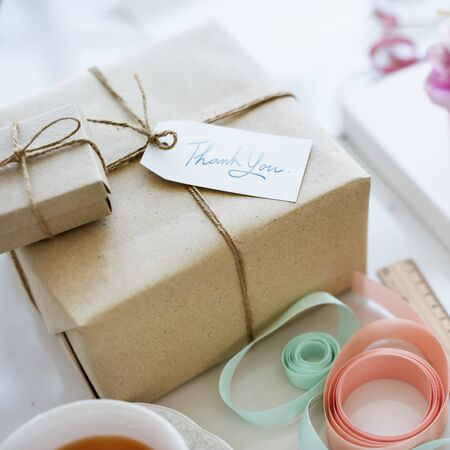 thankyou: Vintage Present Package Thankyou Message Concept