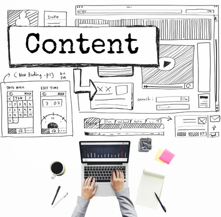 fulfilled: Content Blog Create Analyze Optimize Concept