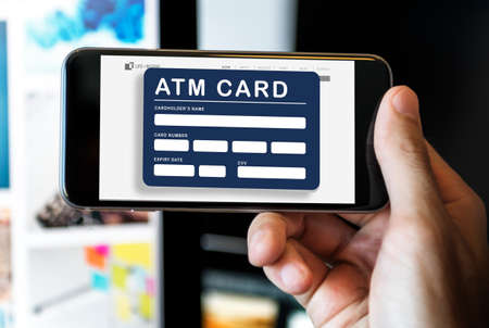 atm card: Account ATM Card Bank Finance Concept