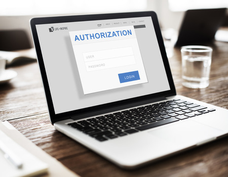 accessible: Authorization Permission Accessible Security Concept Stock Photo