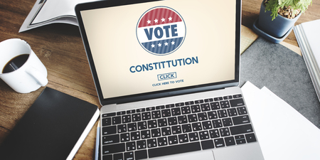 electronic voting: Constitution Registration Regulations Rules Principles Concept Stock Photo